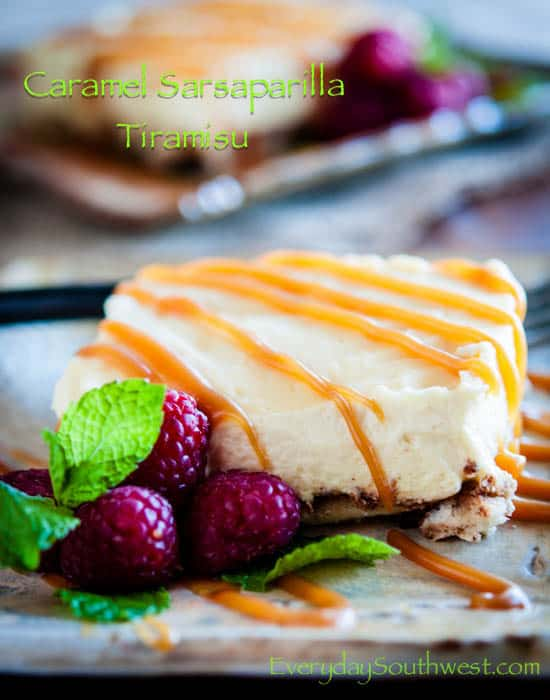 Sarsaparilla Tiramisu with Caramel Sauce Recipe