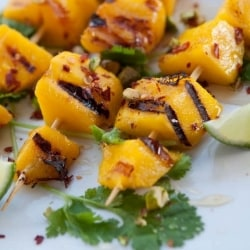 Grilled Mango Skewers with Honey