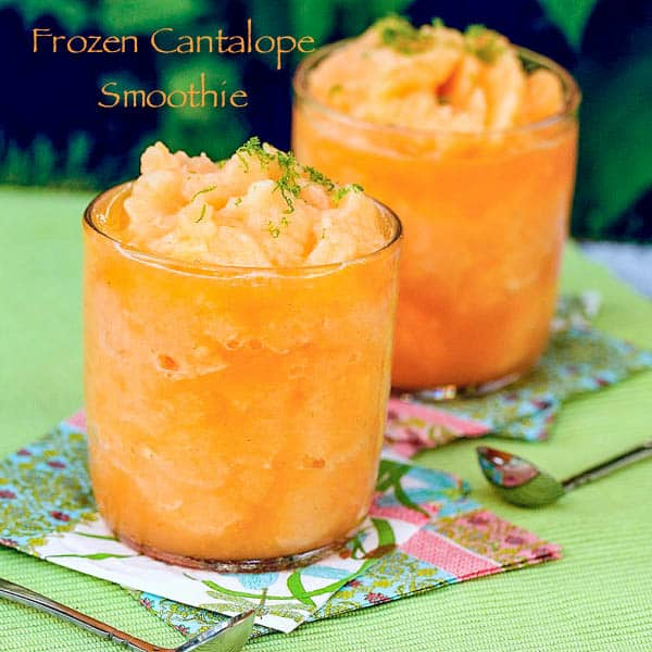 Frozen Cantalope Smoothie
