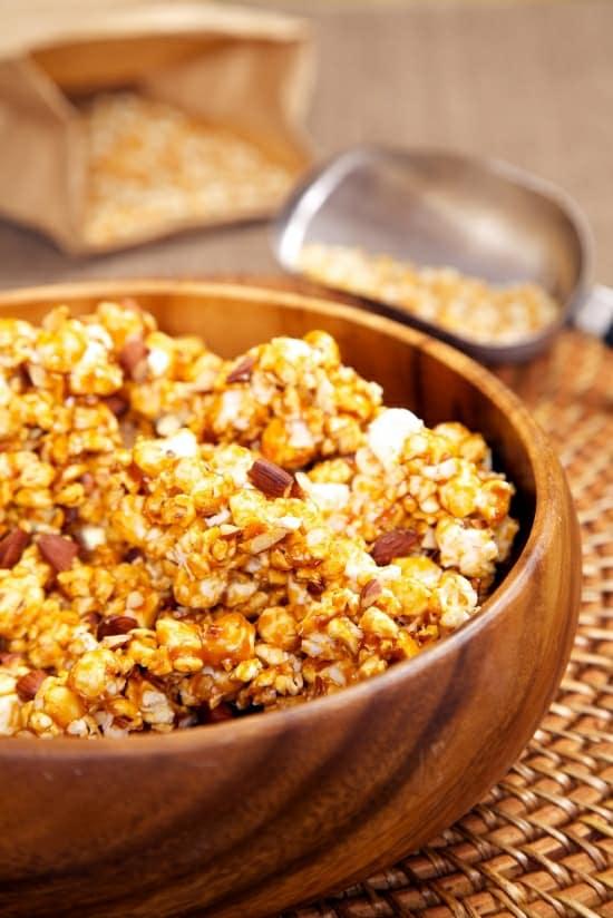 Coconut Caramel Popcorn Recipe with Chipotle