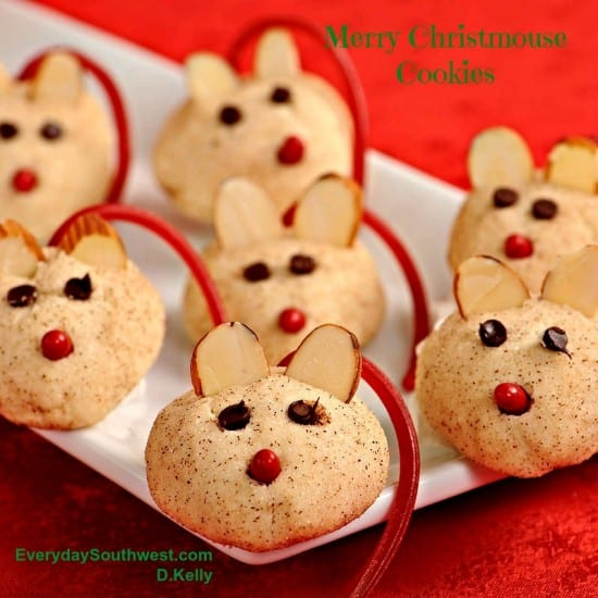 Christmas Mouse Cookies Recipe- Easy Christmas Cookie