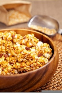 Thumbnail image for Coconut Caramel Popcorn Recipe with a Southwest Kick