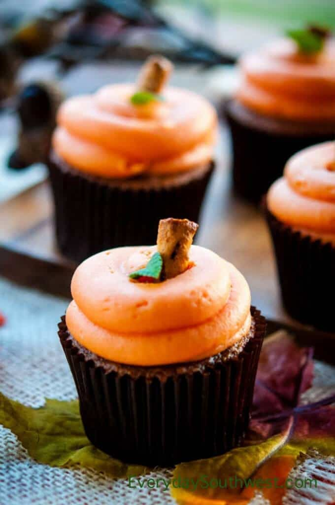 Easy Cupcake Recipe with Cream Cheese Pumpkins