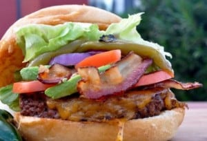 Thumbnail image for Tailgating Fun with Fire Roasted Bacon Green Chile Burgers