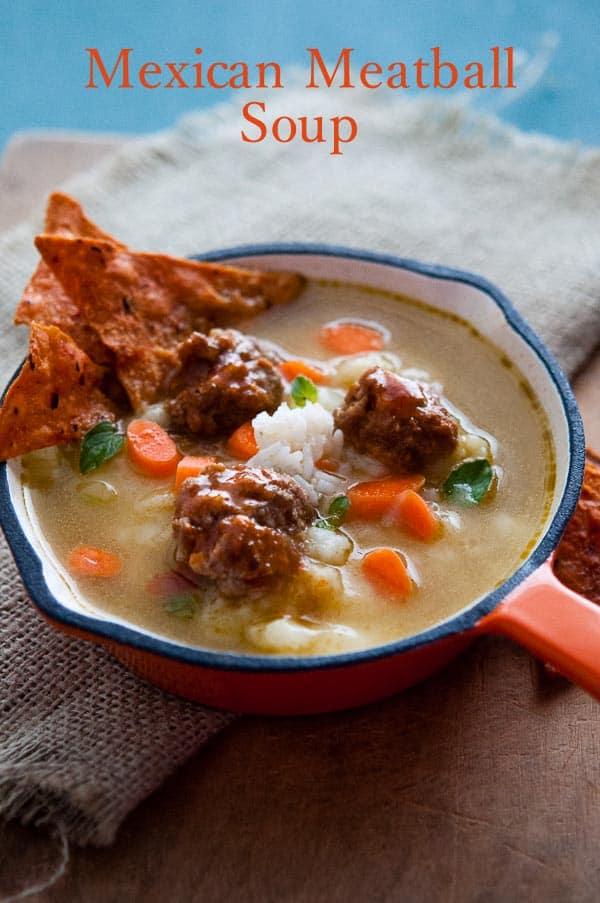 Mexican Meatball Soup or Albondigas Recipe