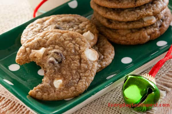 Chocolate Chip Cookies with White and Dark Chocolate Chips