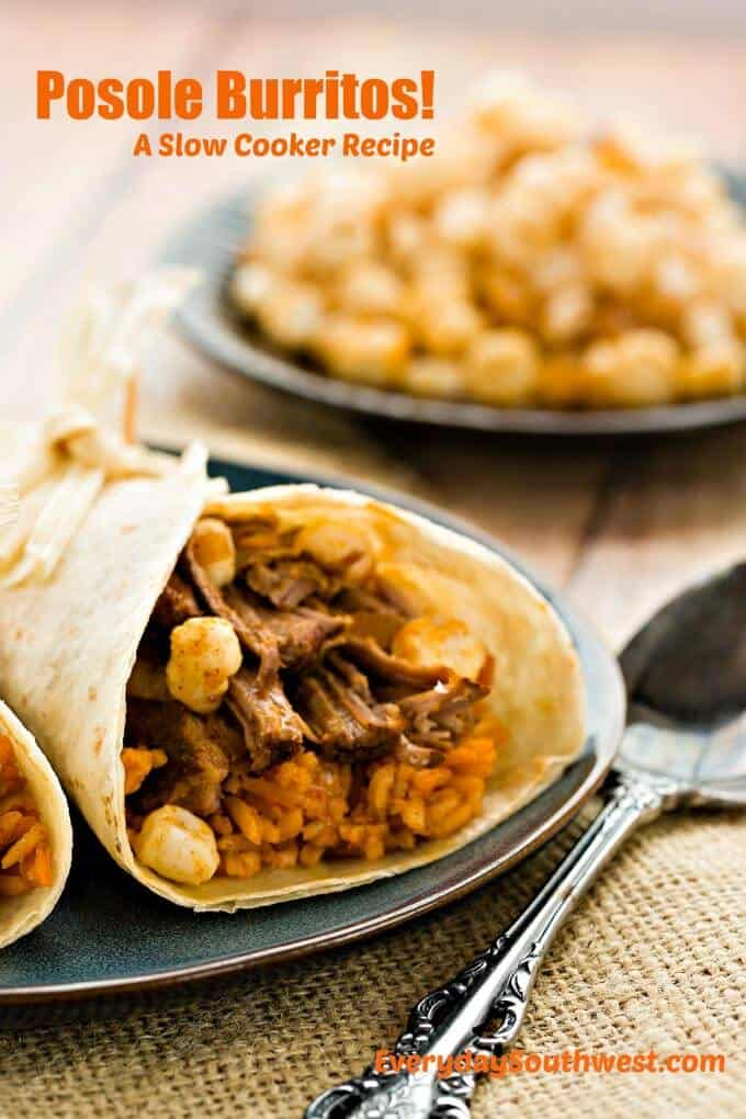 Pozole Burrito Slow Cooker Recipe