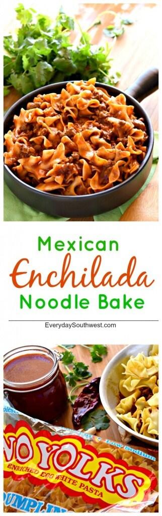 Mexican Enchilada Noodle Bake Collage 1