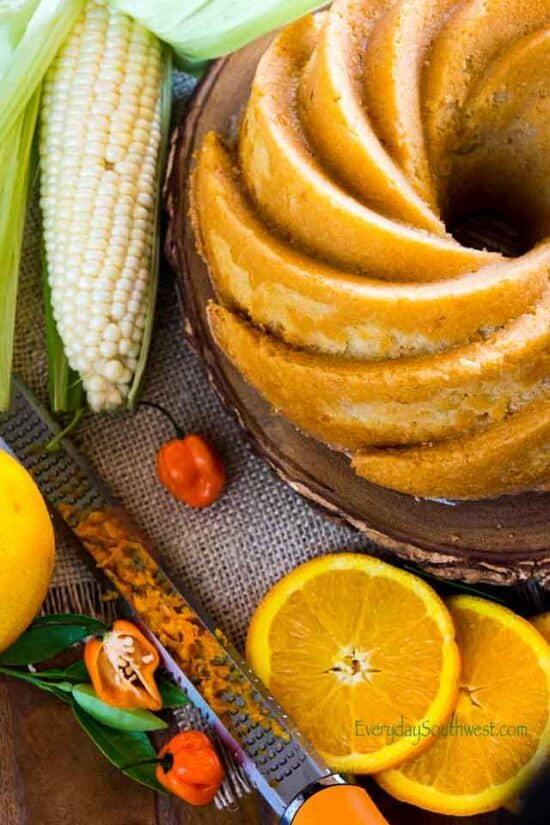 Pastel de Elote or Pound Cake with Fresh Corn