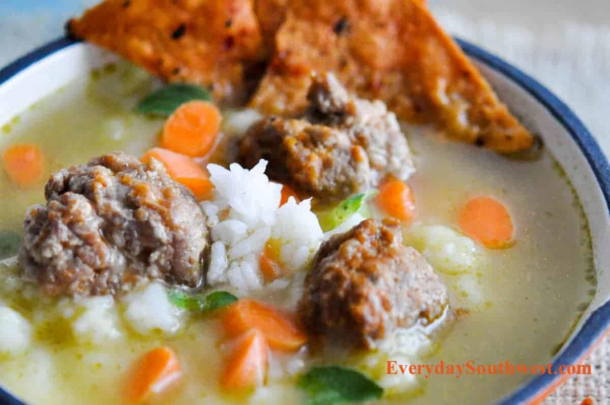 Easy Mexican Meatballs Recipe or Albondigas!