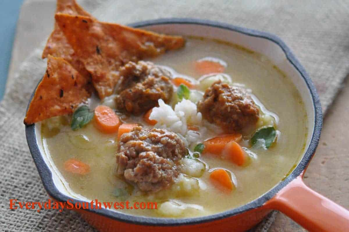 Mexican Meatballs Soup Recipe or Albondigas Soup