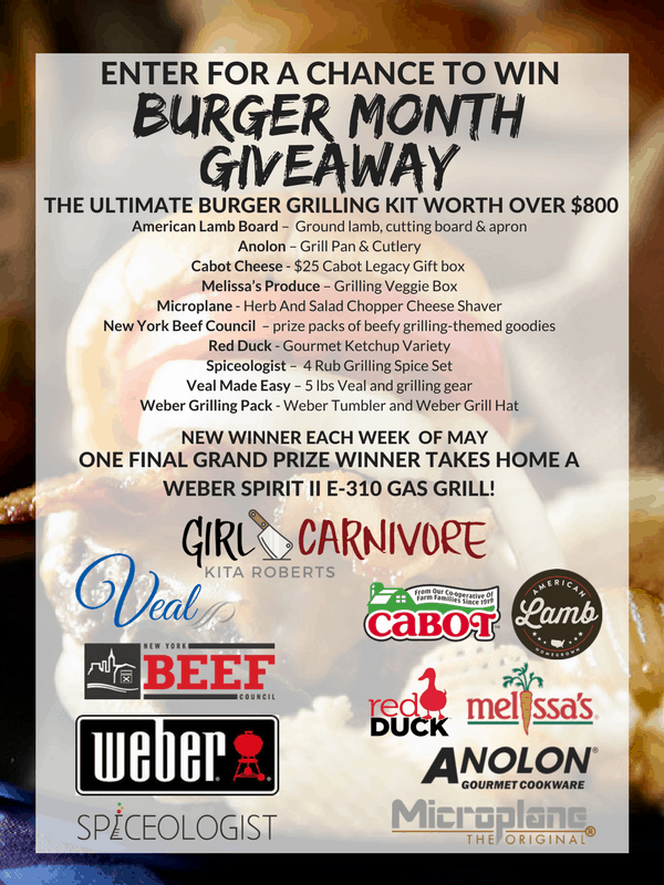 Prizes for #Burgermonth giveaway