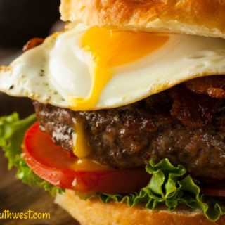 Gourmet Burger Recipe with Mexican food flavors