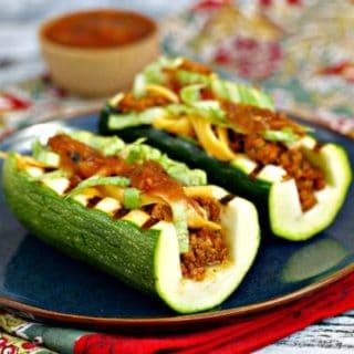 Taco Zucchini Boats Keto Zucchini Recipe