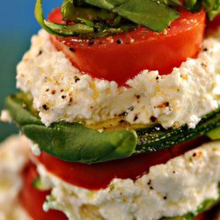 Keto Zucchini Recipe with Ricotta and Tomatoes