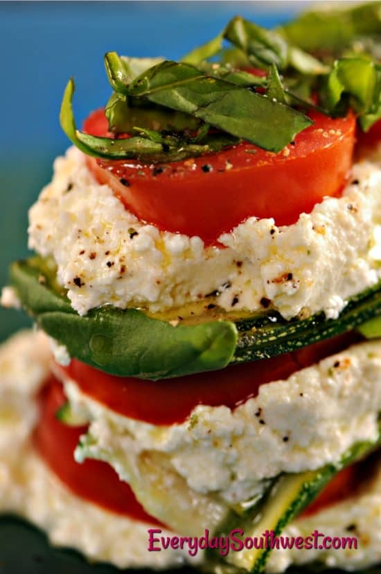 Keto Zucchini Recipe with Ricotta and Tomatoes