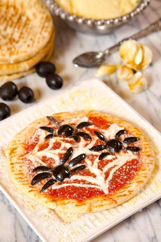 Halloween Pizza Recipe makes and easy dinner or snack