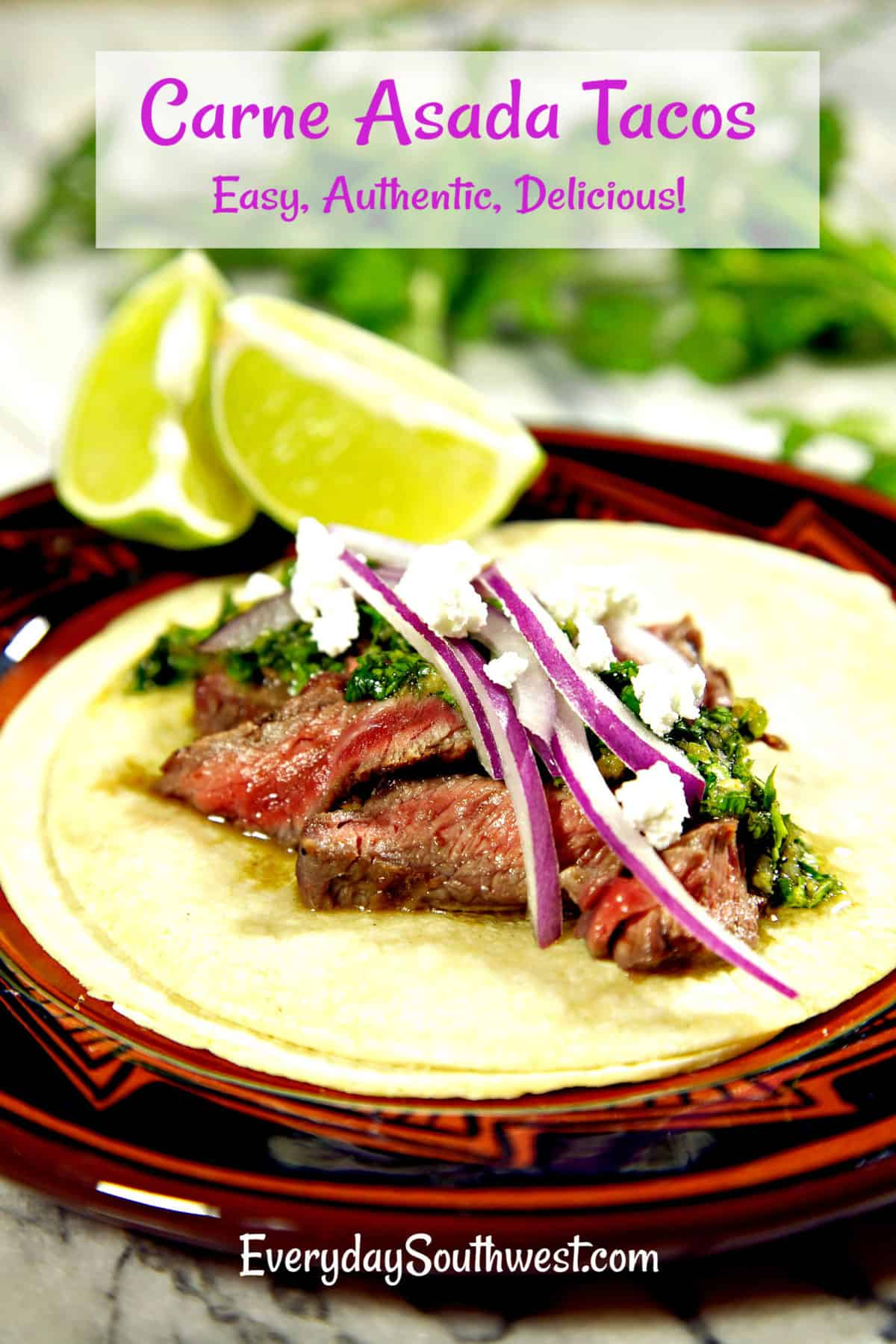 Carne Asada Tacos or Grilled Steak Taco