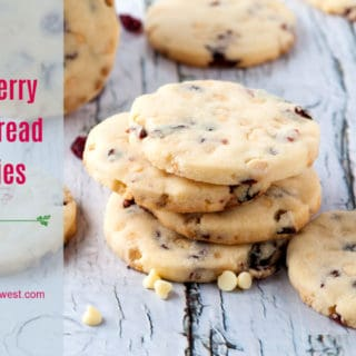 Cranberry Shortbread Cookies with White Chocolate Chips