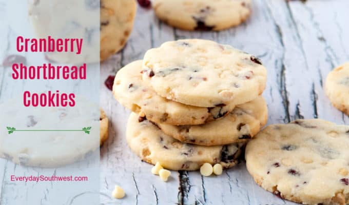 Cranberry Shortbread with White Chocolate Chips