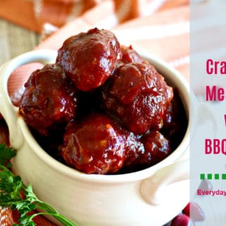 Cranberry Meatballs with BBQ Sauce