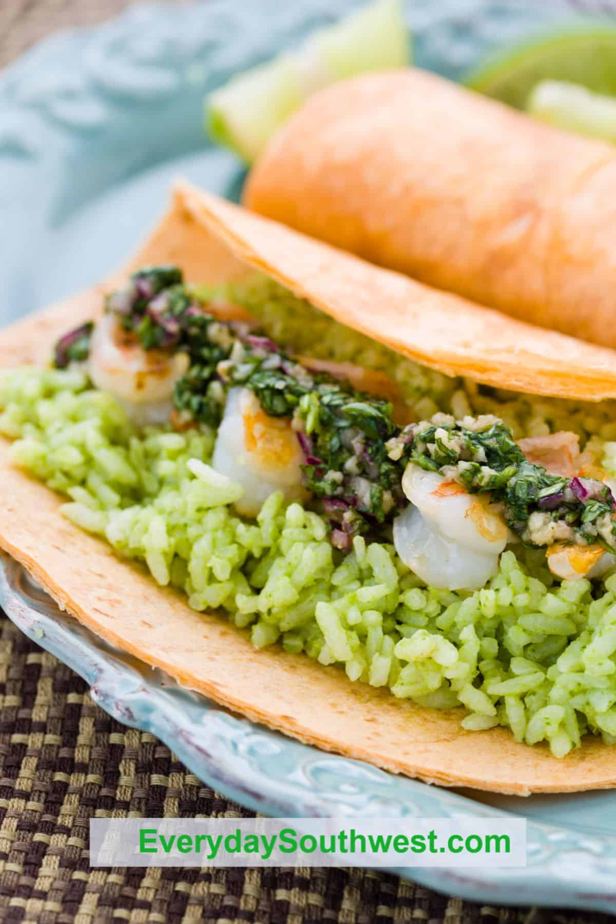 Tequila Lime Grilled Shrimp Burrito