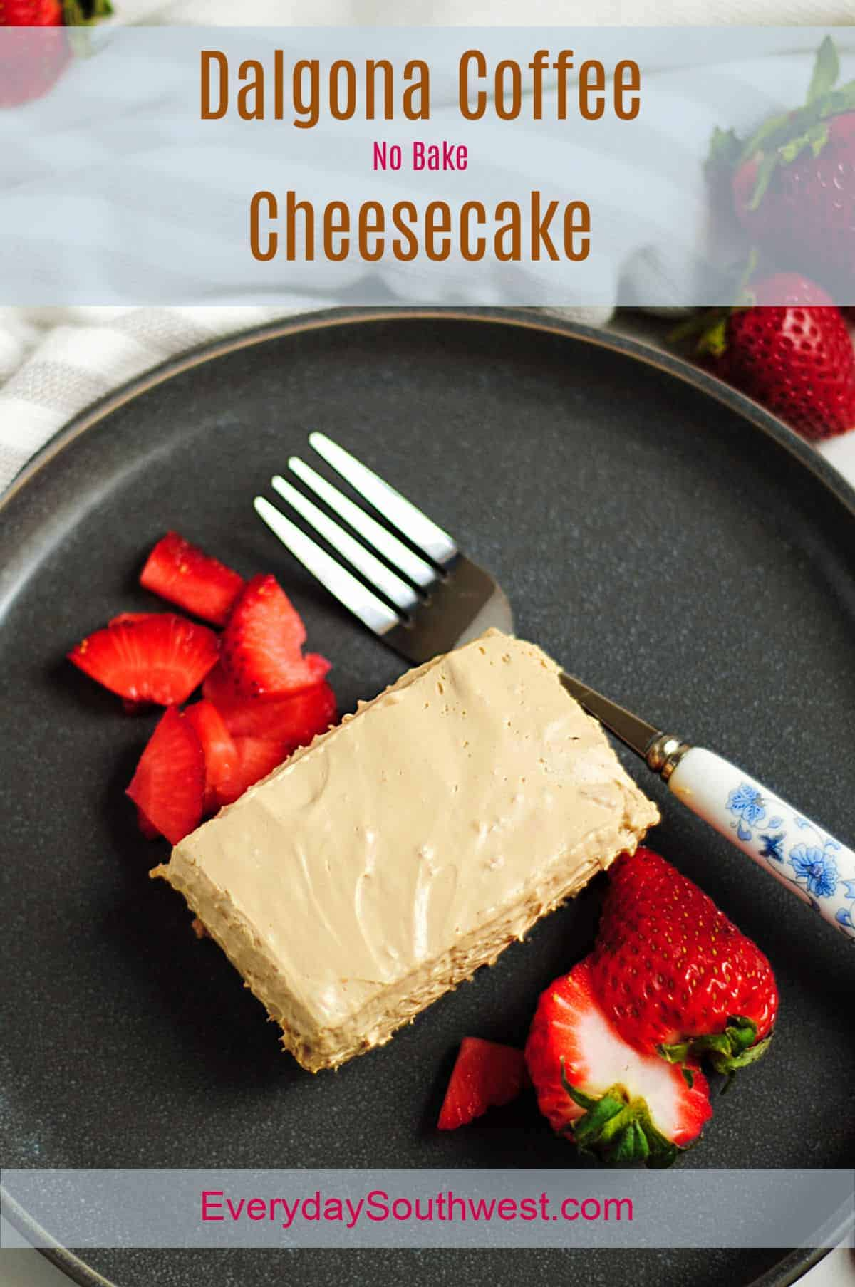 Dalgona Coffee Cheesecake Recipe