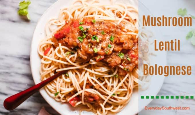 Mushroom Lentil Bolognese Recipe