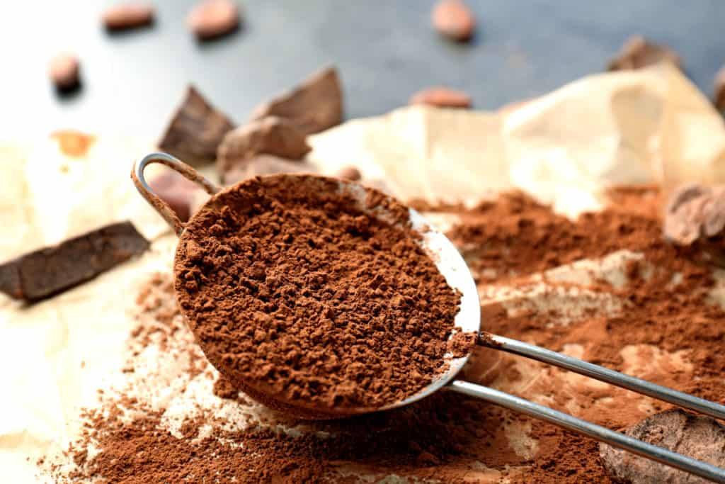 Sift Cocoa Powder for Chocolate Frosting
