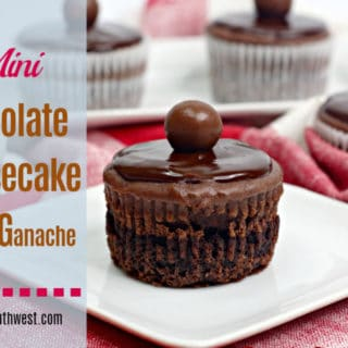 Mini Chocolate Cheesecakes Nutella Ganache