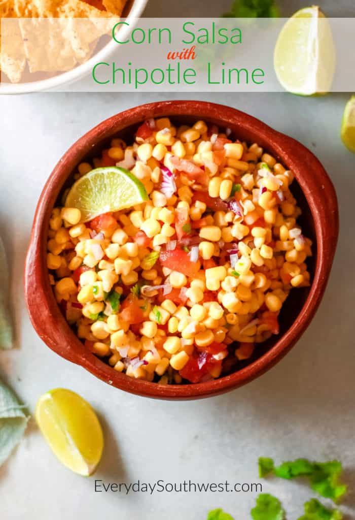 Corn Salsa with Chipotle Lime
